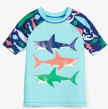 Hatley chlapecké plavecké tričko UV 50+ 92 modrá