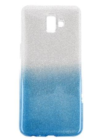 Bling silikonski ovitek z bleščicami za Galaxy J6 Plus 2018 J610, srebrno-moder