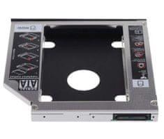 Ewent adapter za SS/HDD v 9,5mm DVD režo, SATA3, aluminij EW7003