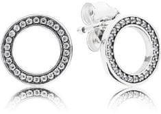 Pandora Kruhové náušnice s kryštálmi 290585CZ striebro 925/1000