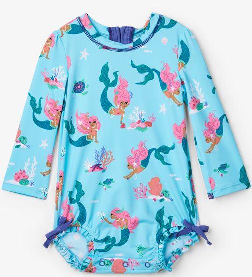 Hatley dívčí plavky UV 50+ - tyrkysové 68 tyrkysová