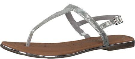 s.Oliver dámské sandály 41 stříbrná