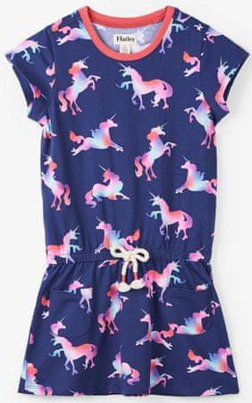 Hatley dievčenské šaty 104 modrá