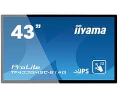 iiyama LED LCD monitor na dotik ProLite TF4338MSC-B1AG, Open Frame, 109,22 cm (43''), črn