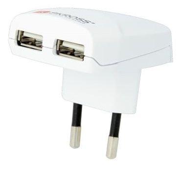 Skross Euro USB töltőadapter, 2400 mA, 2× USB kimenet DC10