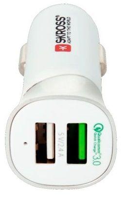 Skross Dual USB Car Quick Charger 3.0 autós töltő, max. 5400 mA DC28
