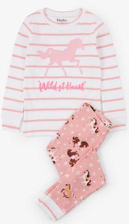 Hatley lány pizsama 92 rózsaszín