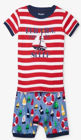 Hatley chlapecké letní pyžamo 92 červená/modrá