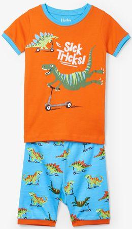 Hatley fiú nyári pizsama 92 kék/narancssárga