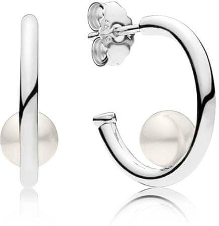 Pandora Ezüst fülbevaló gyöngyökkel 297528P ezüst 925/1000