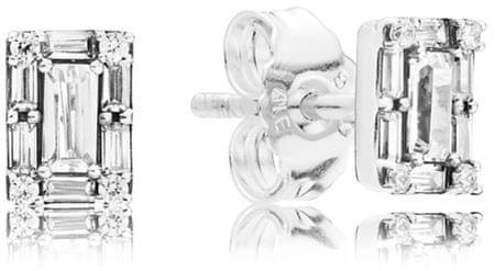 Pandora Svetleči srebrni uhani 297567CZ srebro 925/1000