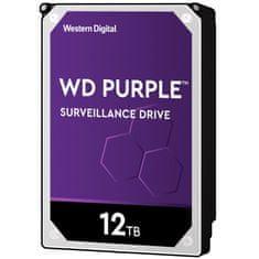 """WD tvrdi disk Purple, 12TB, 8,89 cm (3,5""""), SATA3, 256 MB, 7200rpm (WD121PURZ)"""