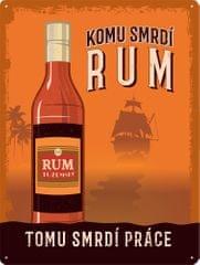 Postershop Plechová cedule: Rum