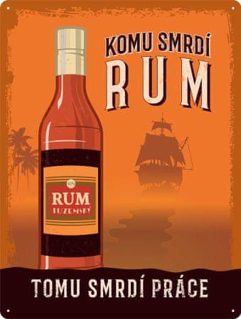 Postershop Plechová tabuľa: Rum