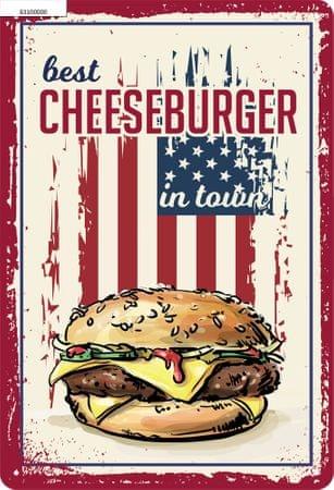 Postershop plastična tablica z napisom: Best Cheeseburger in Town