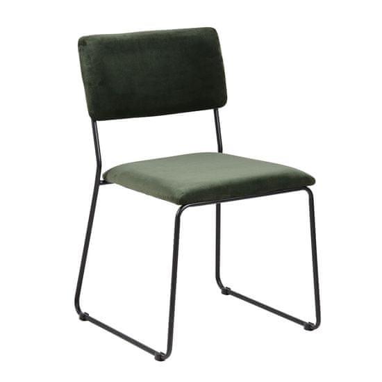 Design Scandinavia Jídelní židle Melodi (SET 2 ks), zelená