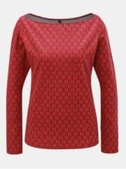 Tranquillo červené vzorované tričko s lodičkovým výstřihem Leila