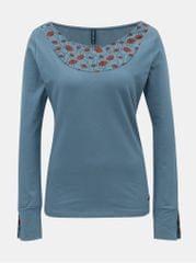 Tranquillo modré tričko s dlouhým rukávem Mia