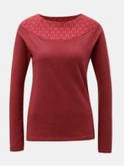 Tranquillo červené tričko se vzorovanou částí v dekoltu Cleo