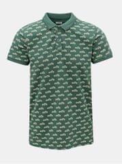 Dstrezzed zelené vzorované polo tričko