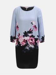 Tom Joule černo-modré dámské květované šaty s 3/4 rukávem
