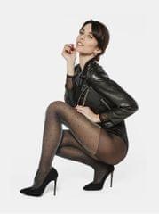 Andrea Bucci černé puntíkované punčochové kalhoty s třpytivým efektem High Sheen Polka Dot