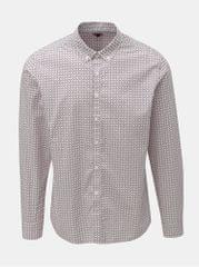 Merc světle růžová vzorovaná košile s dlouhým rukávem