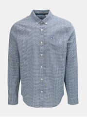 Original Penguin modrá kostkovaná košile s náprsní kapsou