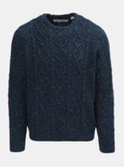 Original Penguin tmavě modrý žíhaný vlněný svetr