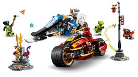 LEGO Ninjago 70667 Kai Pengés Motorja és Zane motoros szánja