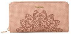 Desigual ženska denarnica Mone Atila Fiona, roza