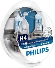 Philips žarnica Halogen H4 12V + W5W White Vision (Xenon efekt)