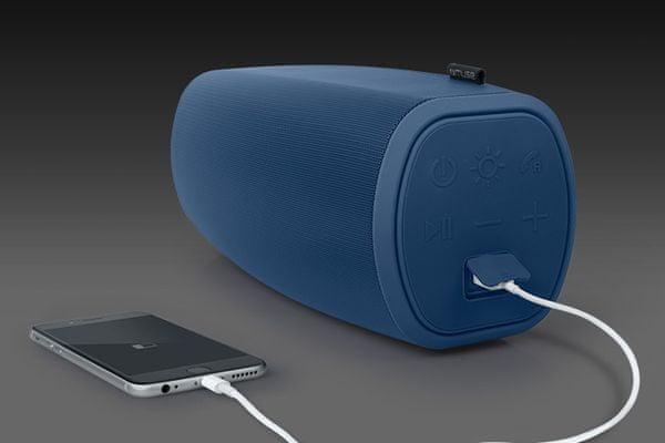 Bluetooth reproduktor Muse M-930 DJ vodorovná i svislá poloha světelné efekty led nfc handsfree usb ipx4 bass