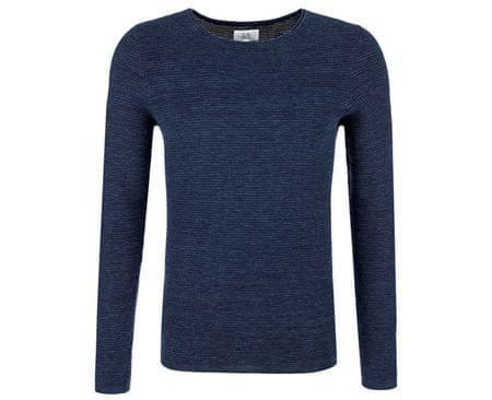 Q/S designed by Męska sweter 40.710.61.2402.59W0 Niebieski Melanż (rozmiar XXL)
