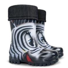 Demar Dětské holínky Twister LUX Print S Zebra