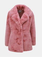 TALLY WEiJL starorůžový krátký kabát z umělé kožešiny