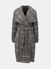 Miss Selfridge šedý kostkovaný dlouhý kabát