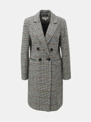 Miss Selfridge šedý kostkovaný kabát