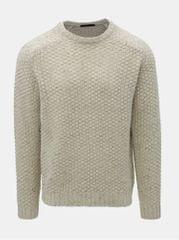 SUIT béžový vlněný svetr