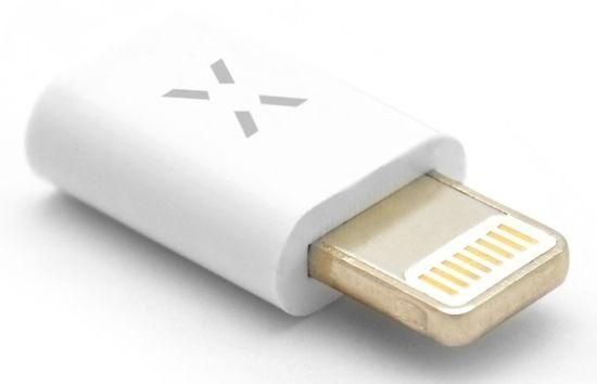 Fixed Redukce pro nabíjení a datový přenos z microUSB na Lightning, podpora iOS 12.x a nižší, bílá FIXA-MTOL-WH