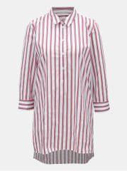 Rich & Royal červeno-bílá pruhovaná košile s rozparky