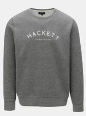 Hackett London šedá classic fit mikina