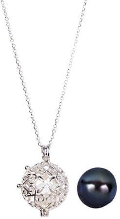 JwL Luxury Pearls Srebrna ogrlica z zamenljivim desnim biserjem JL0491 (veriga, obesek) srebro 925/1000
