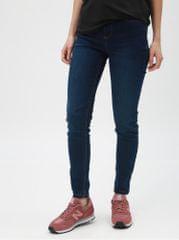 Dorothy Perkins tmavě modré super skinny džíny s vyšisovaným efektem Frankie