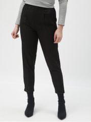TALLY WEiJL černé pruhované zkrácené kalhoty s vysokým pasem