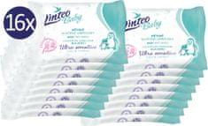 LINTEO Nedves törlőkendő Baby Ultra Sensitive - 16 x 10 db.