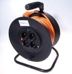 PremiumCord Prodlužovací kabel 230 V, 25 m buben, průřez vodiče 3×1,5 mm2 ppb-01-25