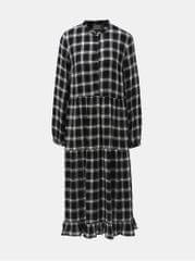 VILA bílo-černé kostkované košilové šaty Vila Kallie