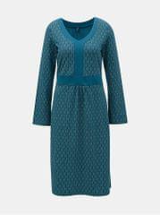 Tranquillo petrolejové vzorované šaty Aphaia