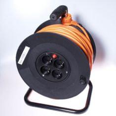 PremiumCord Przedłużacz 230 V, 50 m bęben, przekrój przewodu 3 × 1,5 mm2 ppb-01-50